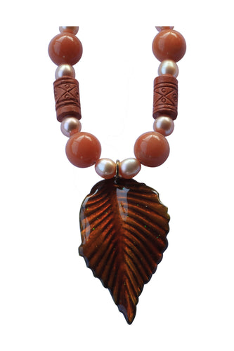 Sunrise Leaf Necklace