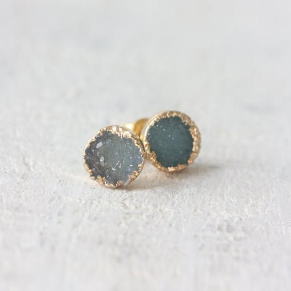 Cloud Nine Creative Raw Crystal Stud - Ocean