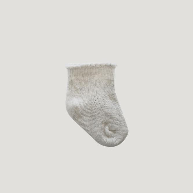 Jamie Kay Lace Tilly Socks - Oatmeal