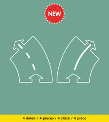 PRE-ORDER | Waytoplay - Curves Extension Set 4 Pieces