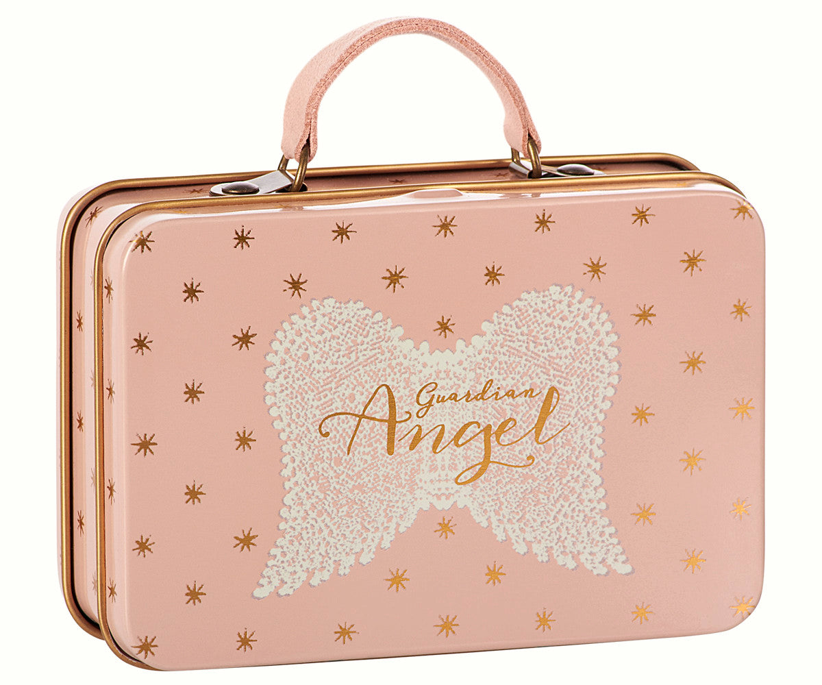 Maileg Metal Suitcase - Rose Gold Stars