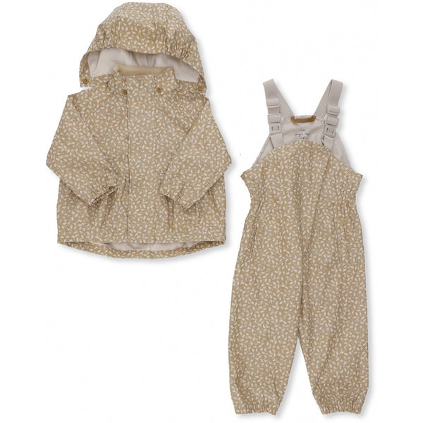 Konges Slojd Rainwear Set  (Jacket + Pants/Overalls) - Melodie Dark Honey