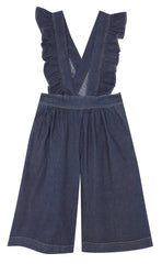 Yellow Pelota Folk Culotte - Washed Denim
