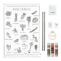 Numero 74 School Poster Embroidery Kit - Vegetables