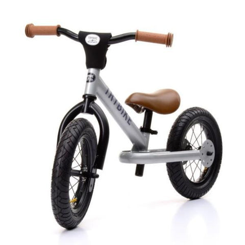 Trybike - Silver Steel 2-In-1 Balance Bike & Trike