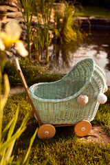 LiLu Low Dolls Pram - Mint