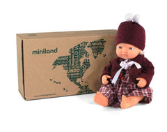 Miniland Caucasian Baby Girl Doll And Outfit Boxed 38cm