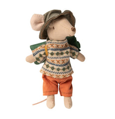 Maileg Hiker Mouse Big Brother with Sleeping Bag