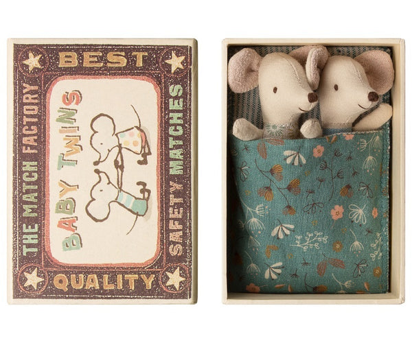 Maileg Mouse Baby Twins In Box