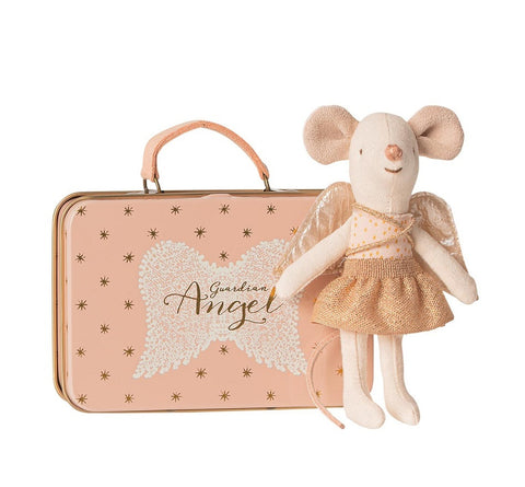 PRE-ORDER | Maileg Guardian Angel In Suitcase Little Sister Mouse