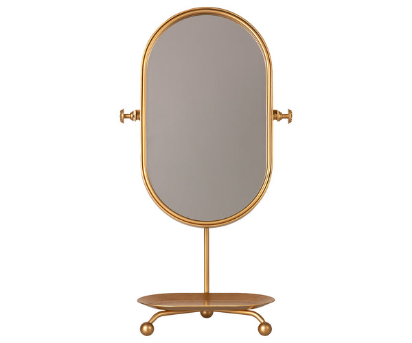 Maileg Vintage Kids Table Mirror with Tray - Gold