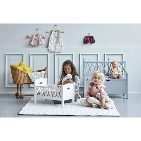 Cam Cam Copenhagen Harlequin Kids Storage Bench - White