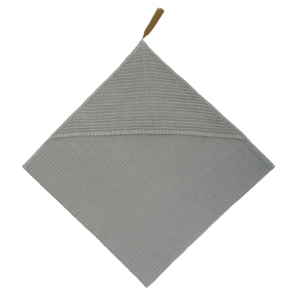 Numero 74 Baby Bath Towel - Silver Grey