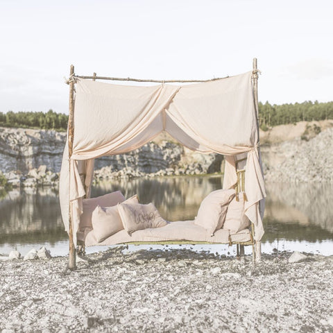 Numero 74 Bed Drape Single - Natural