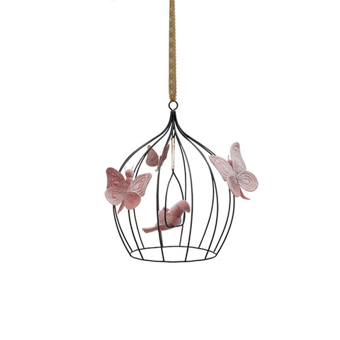 Numero 74 Bohemian Birdcage (Sml & Med from $149) - Dusty Pink