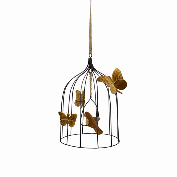 Numero 74 Bohemian Birdcage (Sml & Med from $149) - Gold