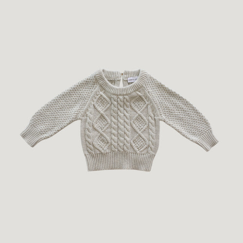 Jamie Kay Cable Knit - Oatmeal
