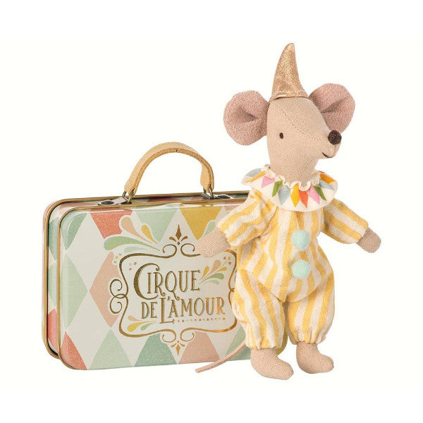 Maileg Clown Mouse in Suitcase