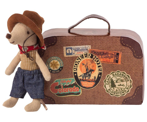 Maileg Cowboy Mouse In Suitcase