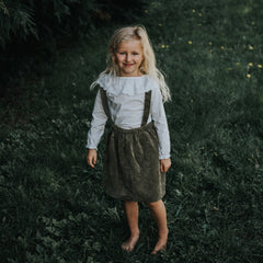 Kinsfölk Corduroy Pinafore Dress - Khaki