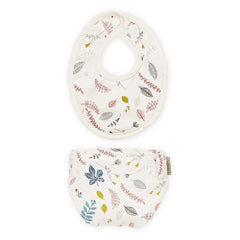 Cam Cam Copenhagen Doll's Bib & Diaper Set - Pressed Leaves Rose