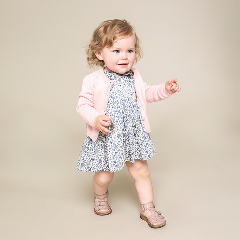Wheat Eila Dress Baby - Eggshell