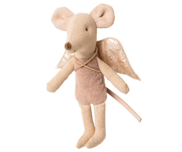 Maileg Fairy Mouse Little Sister Mauve