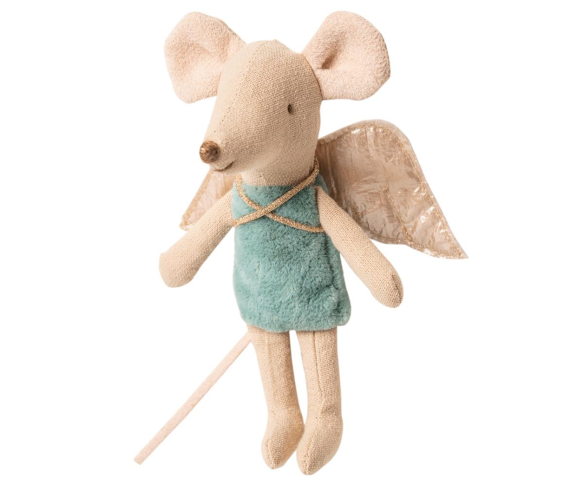 Maileg Fairy Mouse Little Sister Mint