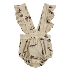 Yellowpelota Folk Romper - Green Beige