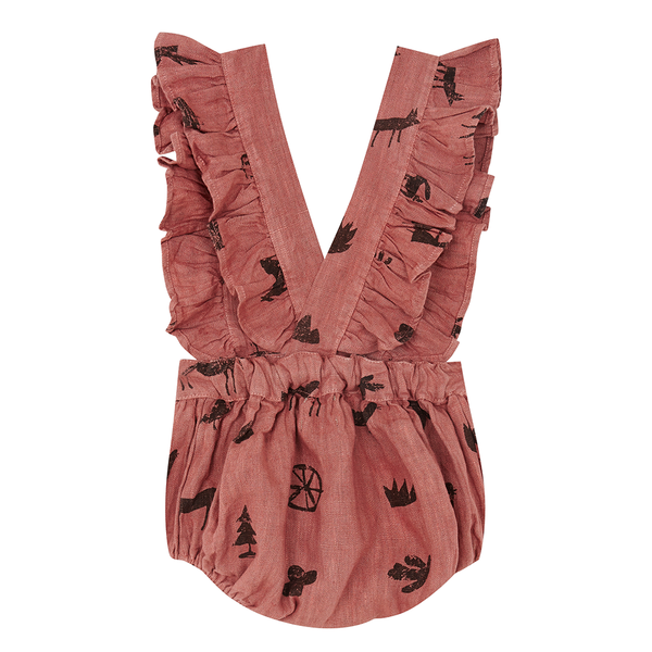 Yellowpelota Folk Romper - Terracotta