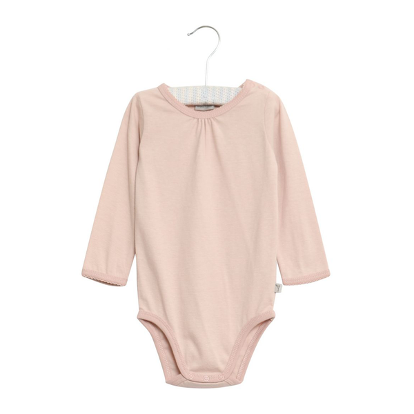 Wheat Frills Bodysuit LS - Dark Rose