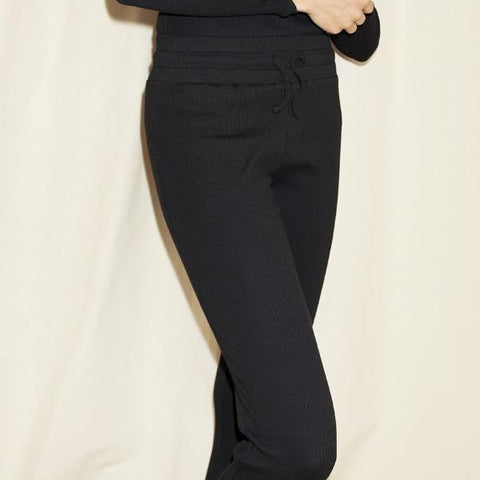 Popupshop Rib Jogging Pants with Lace