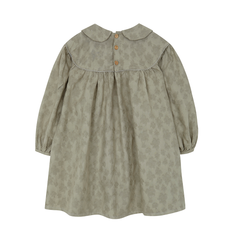Yellow Pelota Gathered Dress - Olive Green
