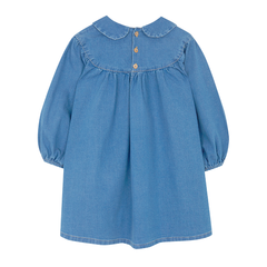 Yellowpelota Gathered Dress - Washed Denim