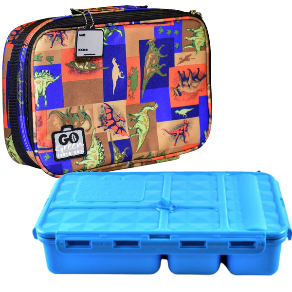 Go Green Lunchbox Complete Set - Jurassic Party Blue