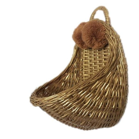 LiLu Wall Basket - Gold