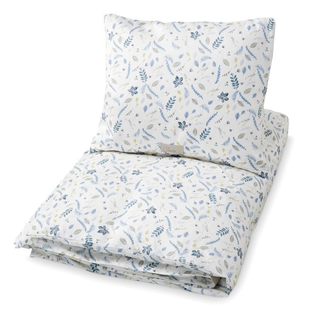 Cam Cam Copenhagen Duvet Set Single - Pressed Leaves Blue