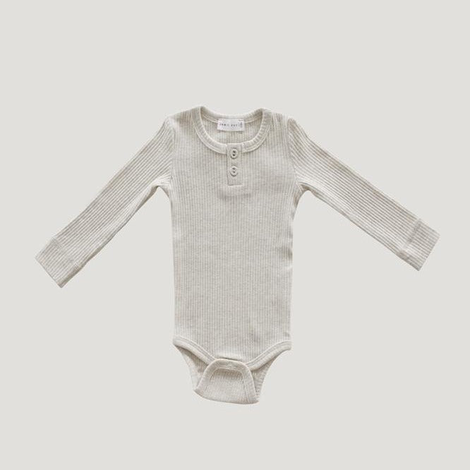 Jamie Kay Cotton Modal Bodysuit (ORIGINAL FIT) - Oatmeal Marle