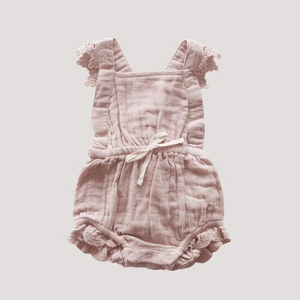 Jamie Kay Lace Indie Playsuit - Rose Smoke