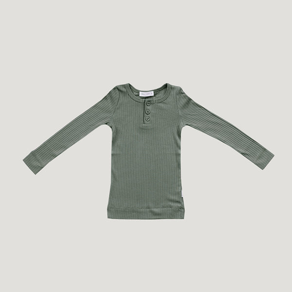 Jamie Kay Cotton Modal Henley - Laurel
