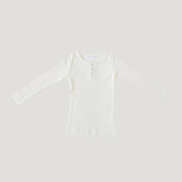 Jamie Kay Cotton Modal Henley - Milk