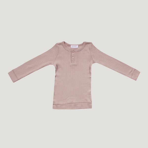 Jamie Kay Cotton Modal Henley (ORIGINAL FIT) - Rosy
