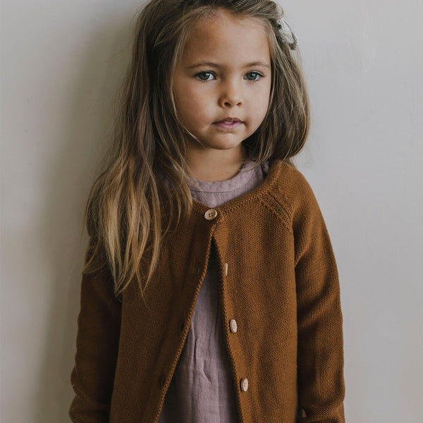Jamie Kay Simple Cardigan - Bronze