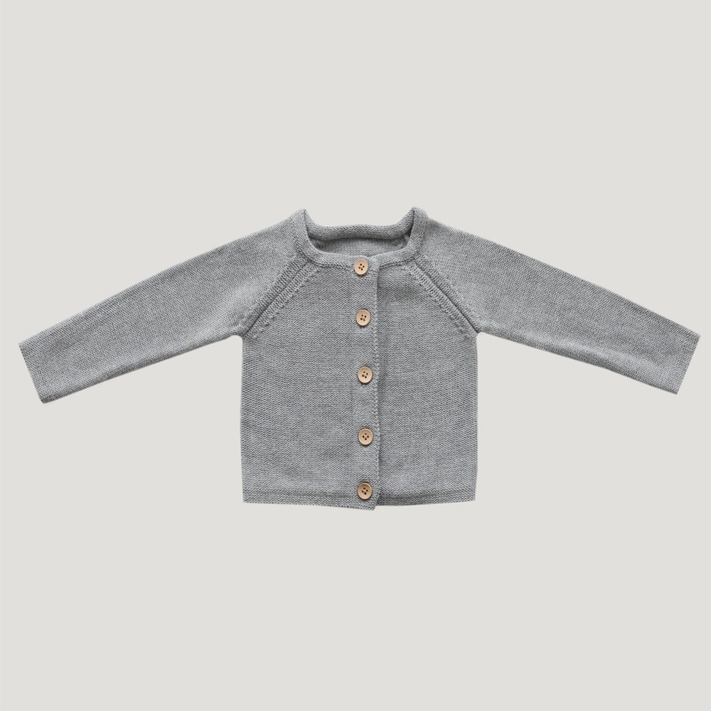 Jamie Kay Simple Cardigan - Light Grey Marle