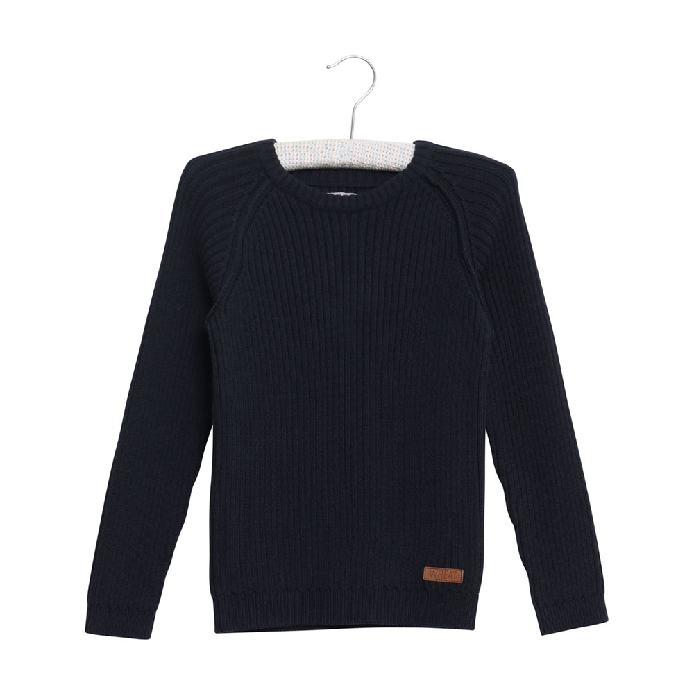 Wheat Julius Knit Pullover - Navy