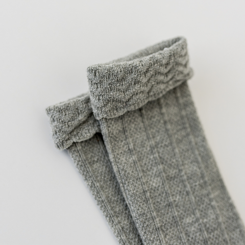 Kinsfölk Knee High Socks - Grey
