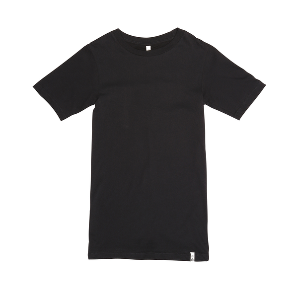 Popupshop Basic Knee Long Tee - Black