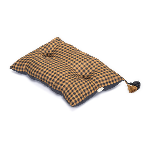 LiLu Large Pillow - Mustard Check