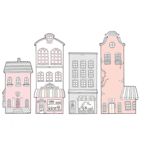 Sailah Lane Little Sailah Lane - Pink Set Wall Decals