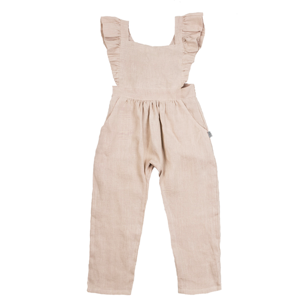 Fox & Horn Little Adventurer Overalls - Rose Milk